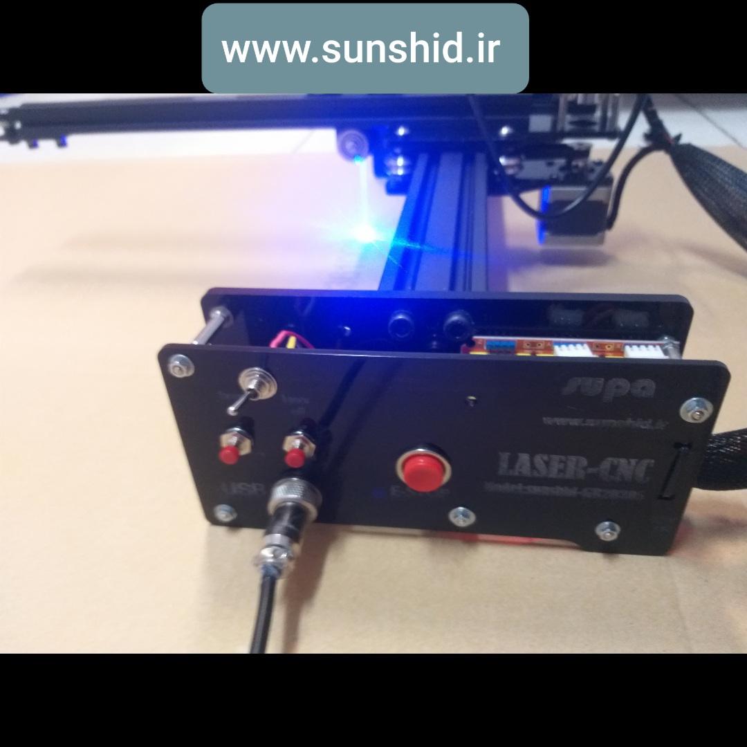 دستگاه حکاکی لیزری و برش لیزری  GM-20305 دارای صفحه کار 300mmx200mm