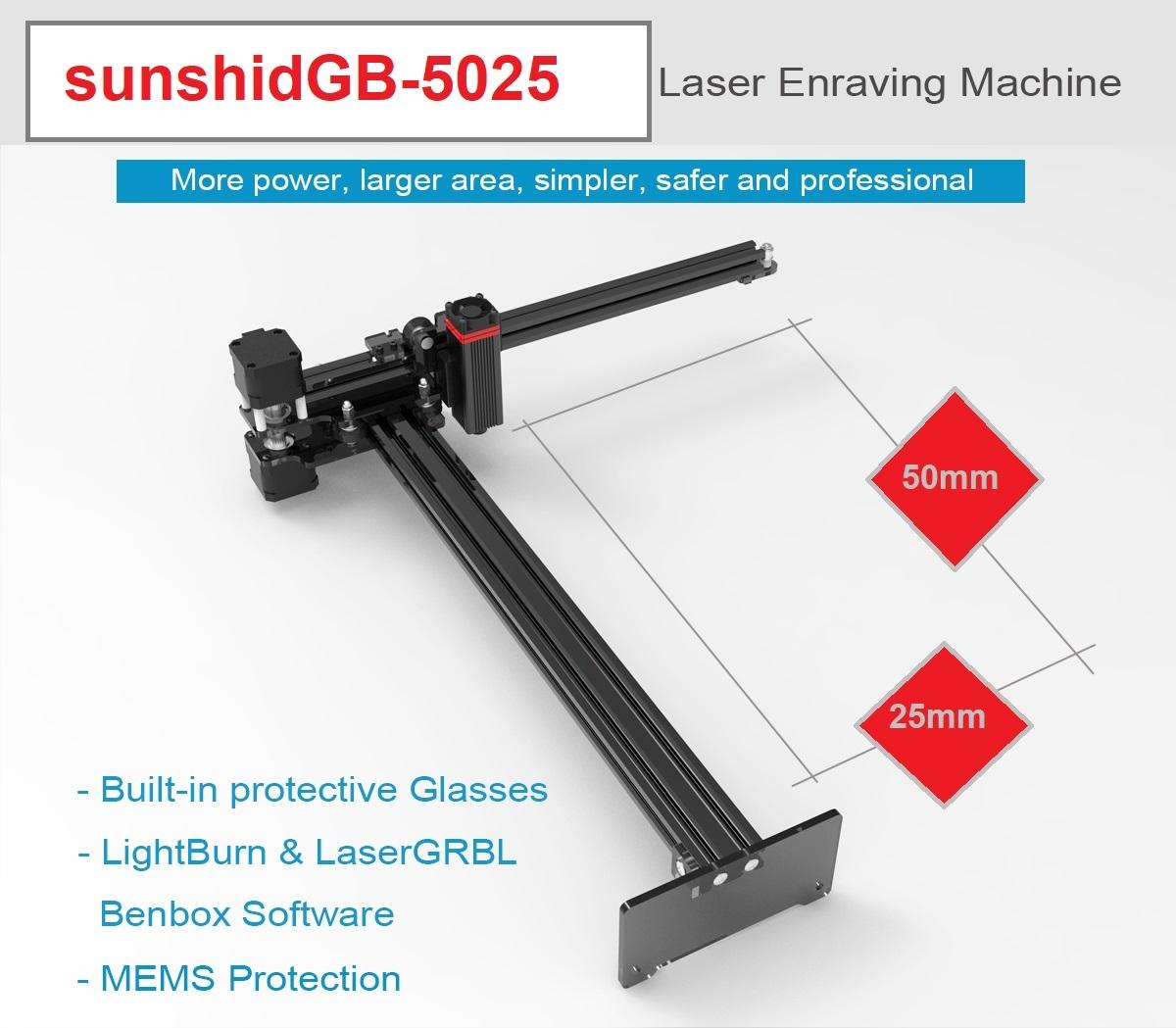 دستگاه لیزر حکاکی و برش لیزری سانشید مدل GB-5025