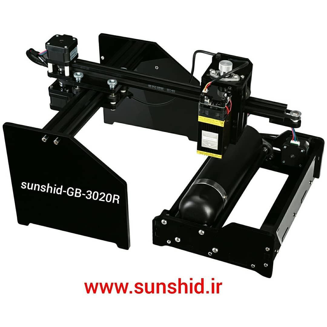 دستگاه حکاکی و برش لیزری ساپا با صفحه کار ۳۰ در ۲۰ سانت مدل GB-3020R