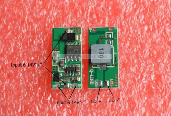 درایور لیزر 1W 1.6W 3W 445/520nm