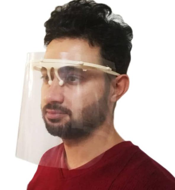 عینک و شیلد محافظ صورت در مقابل ویروس کرونا با پوشش نانو ضد بخار